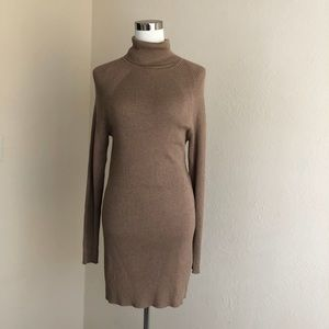 AGB Ribbed Turtleneck Sweater Dress